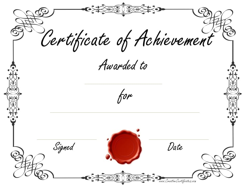 picture relating to Certificate of Achievement Printable identified as Certification Of Accomplishment Template endeavor listing templates