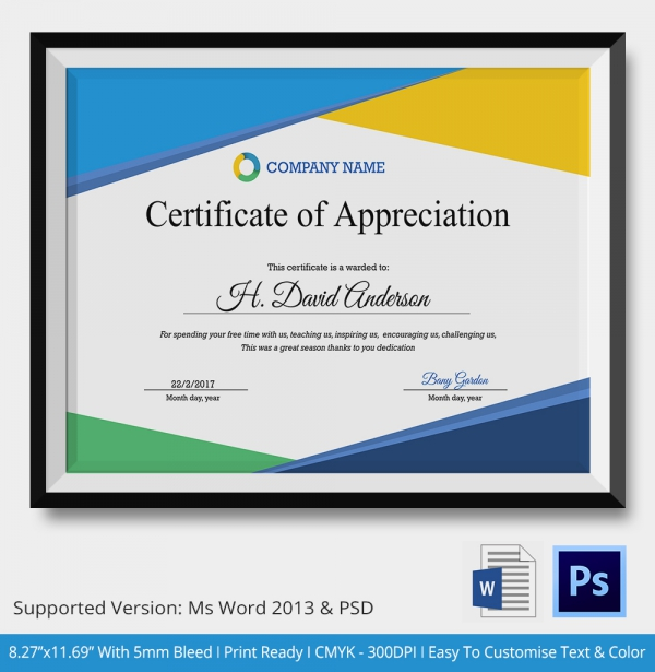 certificate of appreciation for employees thebridgesummit.co