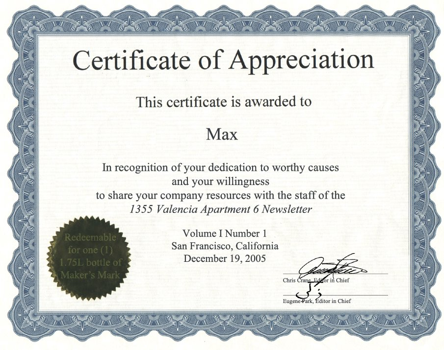 of appreciation template word pdf