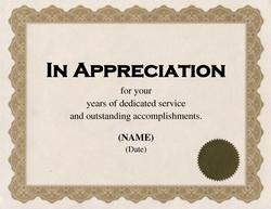Certificate Of Appreciation Wording – task list templates