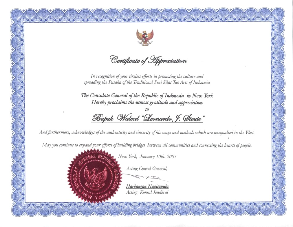 Certificate Of Appreciation Wording