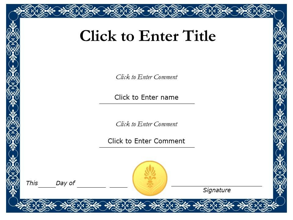 Certificate Template Powerpoint | Template Design