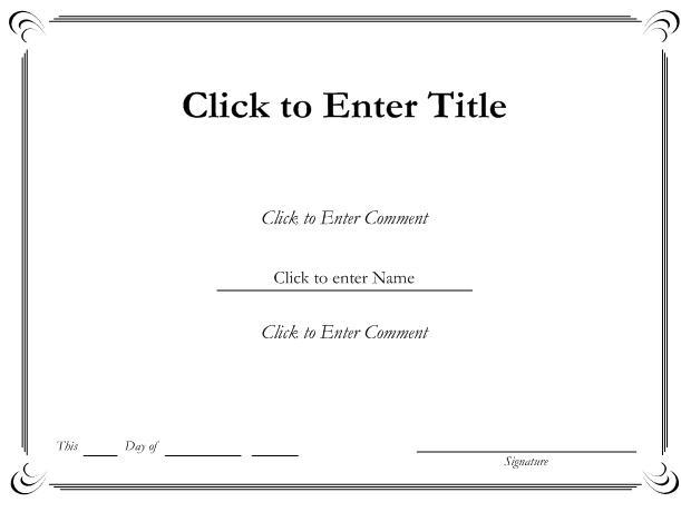 Download free MS Word Sample Certificate : Selimtd