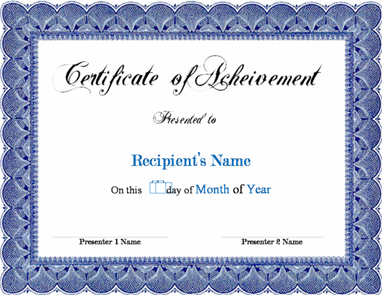 Pics Photos Certificate Templates Microsoft Word Best Templates