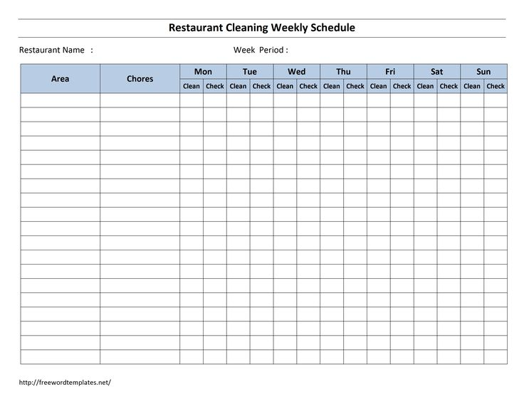 Cleaning Schedule Template 30+ Free Word, Excel, PDF Documents