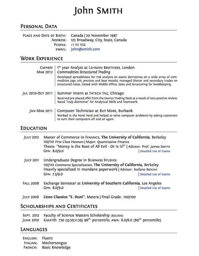 Resume Examples. resume for college application template high