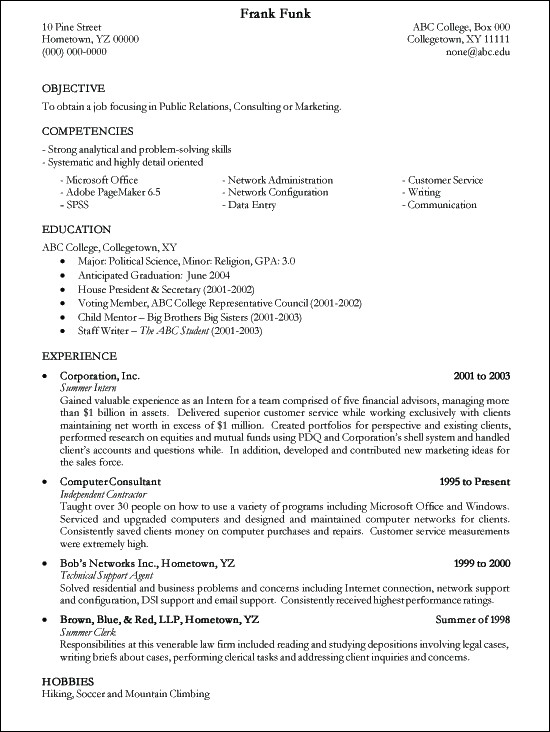 College Resume Template. College Admission Resume Template