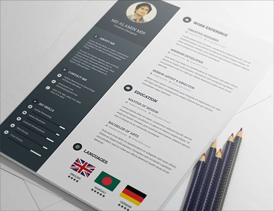 Creative Free Resume Templates. Related To Design Multimedia Print
