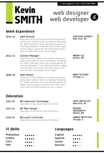 Free Creative Resume Templates Microsoft Word Gfyork.com