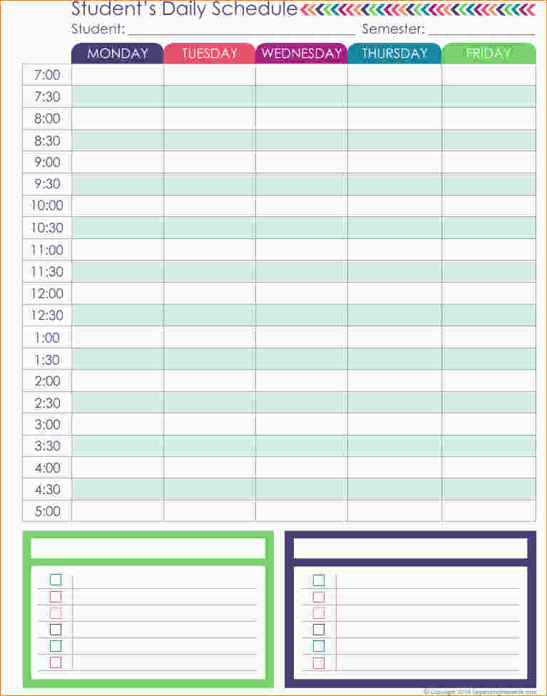 daily schedule planner task list templates. Black Bedroom Furniture Sets. Home Design Ideas