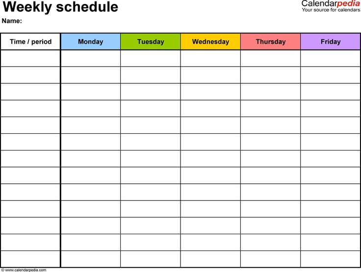 Free Daily schedule printable ideas