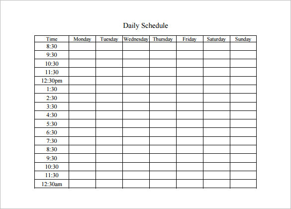 Best 25+ Daily schedule template ideas on Pinterest | Daily