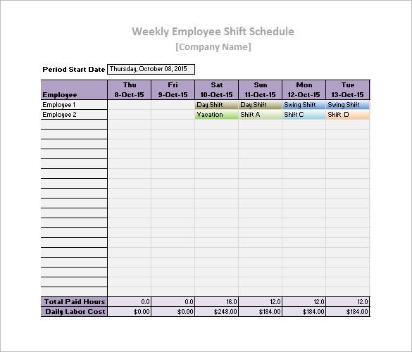 Daily Work Schedule Template – 10+ Free Word, Excel, PDF Format