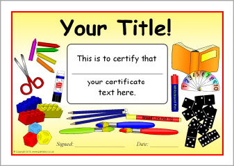 Editable school themed certificate templates (SB9838) SparkleBox