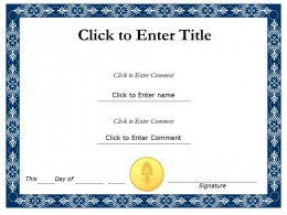 PowerPoint Certificate Templates | Certificate PowerPoint Diagrams