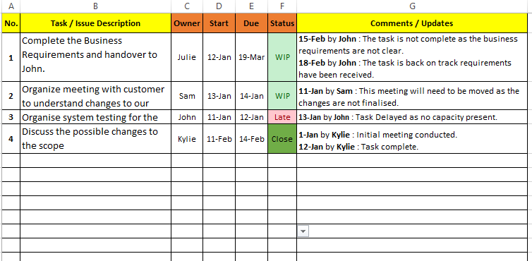 Free Task List Templates for Excel