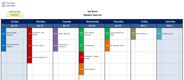 Excel Task Tracker Template Task List Templates
