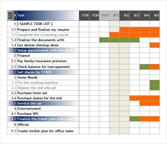Task Tracking Template. A Simple Project Task List Template From