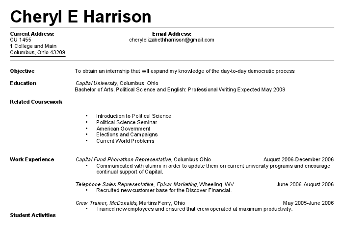 Nice Inspiration Ideas Update My Resume 5 My First Resume Resume