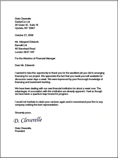 business letter format templates