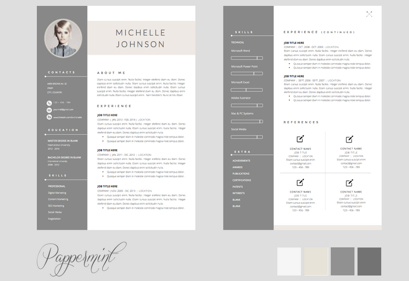 Beautiful Looking Resume Template Doc 16 The Best CV Resume