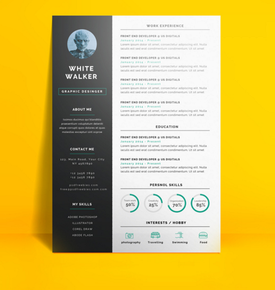 Download 35 Free Creative Resume / CV Templates XDesigns