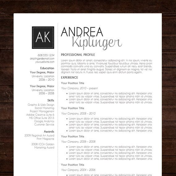 Charming Free Modern Resume Templates For Word 86 For Your Online