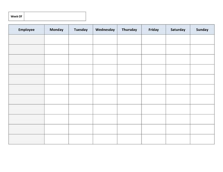 daily schedule excel