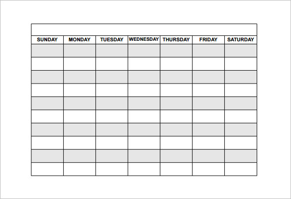 Free Weekly Schedule Templates For Word 18 Templates  Free Weekly Schedule Template