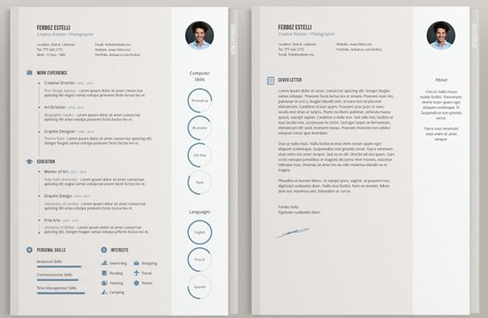 free stylish resume templates