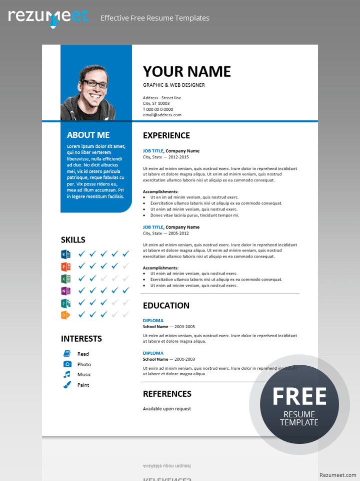 Free Stylish Resume Templates | task list templates