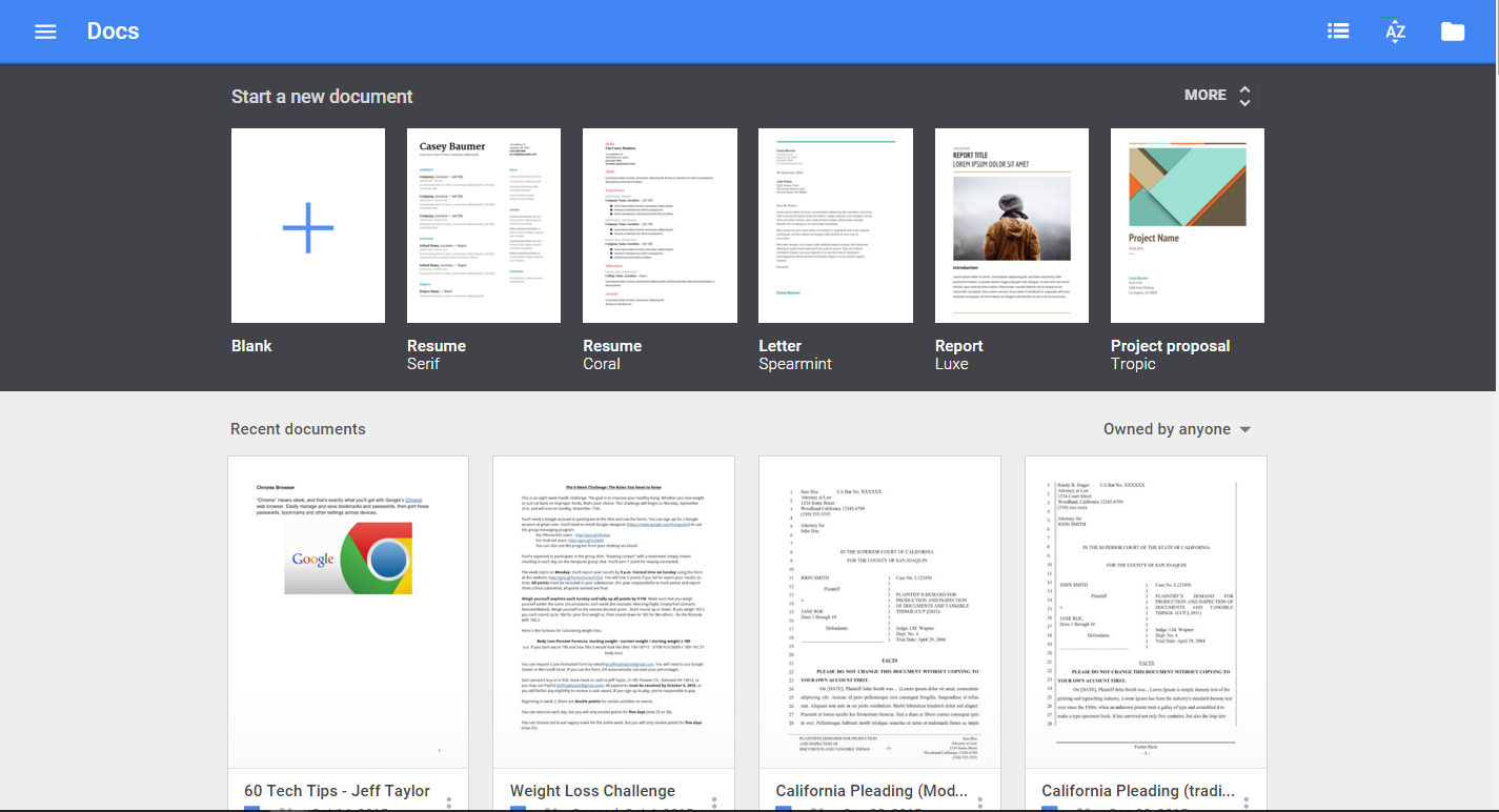 New Templates for Google Docs, Sheets, and Slides | The Droid Lawyer™