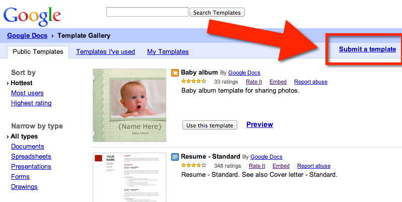 New Google Drive: Directly Access the Template Gallery Teacher Tech