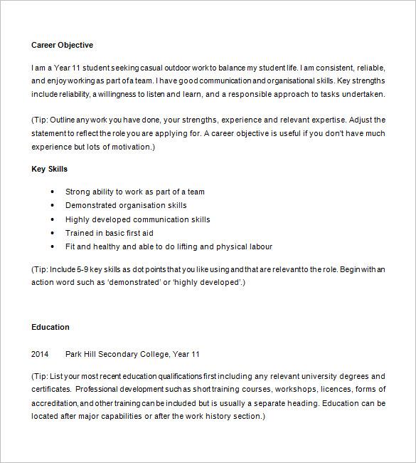 Best 25+ High school resume template ideas on Pinterest   My