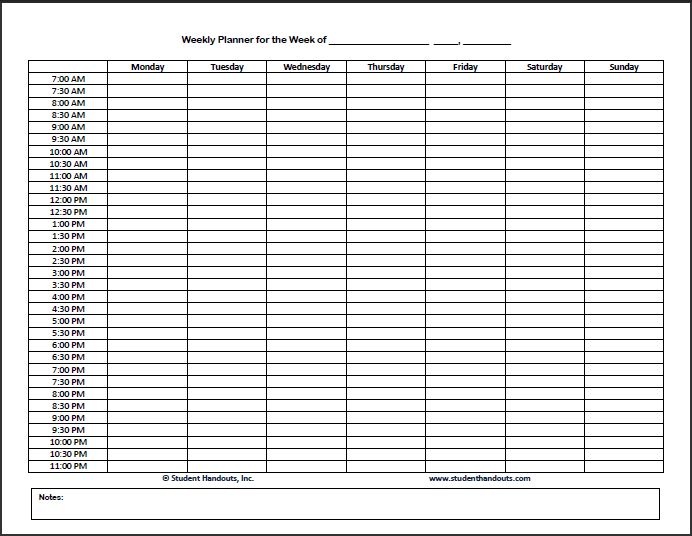 Hourly Schedule Template 25+ Free Word, Excel, PDF Format | Free