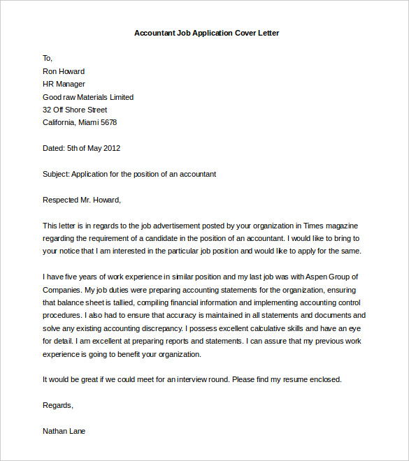 presentation letter template free cover letter template 52 free