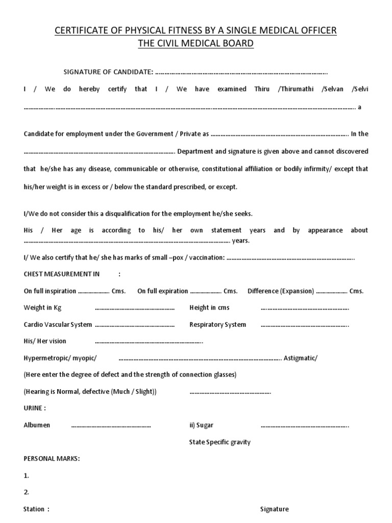 medical certificate format for job task list templates