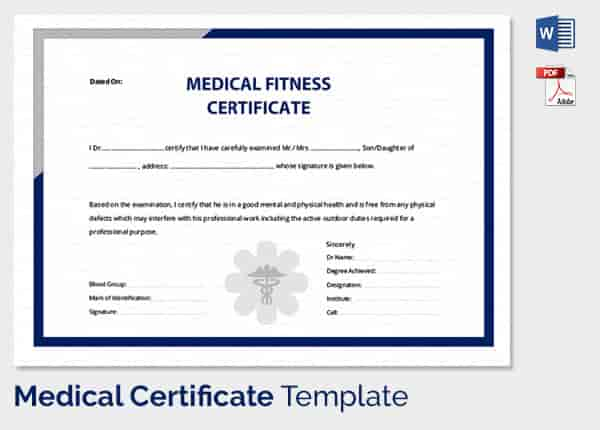 Medical certificate format for sick leave for student medical certificate yelopaper Choice Image