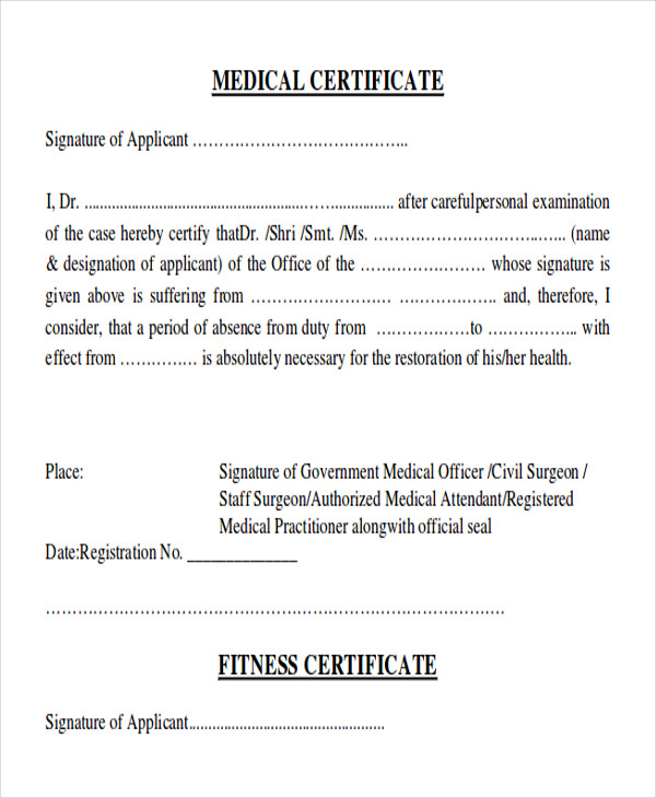 Medical certificate format for job task list templates sample medical certificate formats 9 examples in pdf word yelopaper