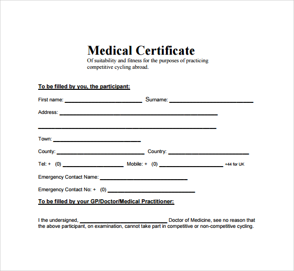 Medical certificate format for sick leave for student task list medical certificate template 20 free word pdf documents yadclub Images