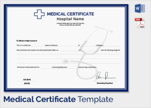 Medical Certificate Format For Sick Leave For Student  Medical Certificate Format