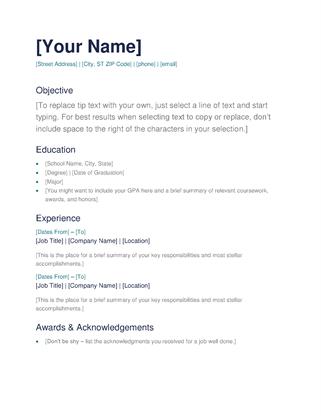 7 Free Resume Templates   Microsoft word, Microsoft and 50th