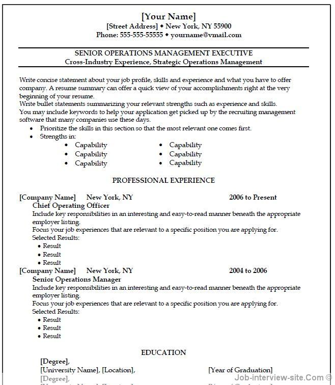 Resume Template Word 2007. Resume Template For Word 2007 Simple