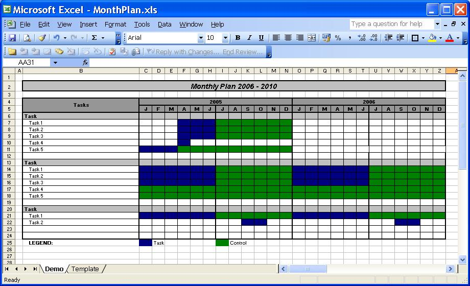 Excel Monthly Calendar. Weekly Schedule Template For Word Version