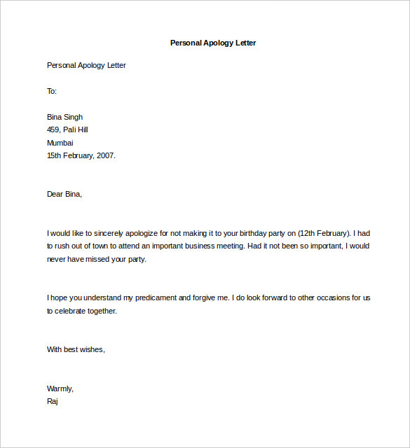 Personal Letter Template 40+ Free Sample, Example Format | Free
