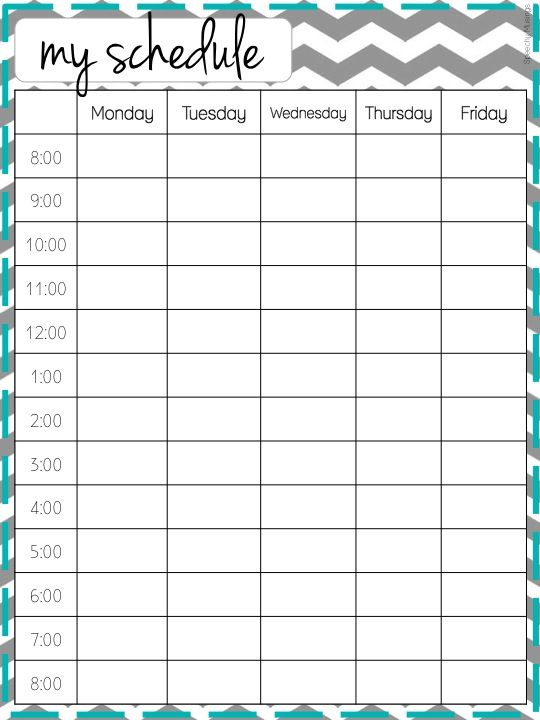 Free Printable Weekly Schedule Template | organize my life