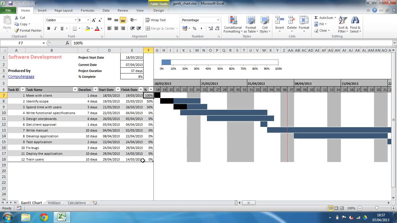 Project Plan Template Excel 2013 | task list templates