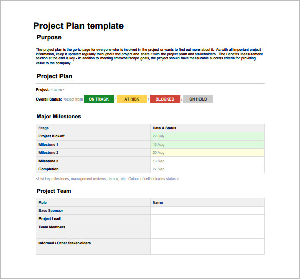 how to develop a project plan in excel