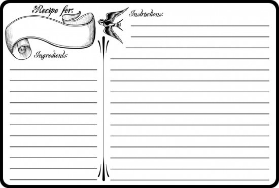 40 Recipe Card Template and Free Printables | Tip Junkie