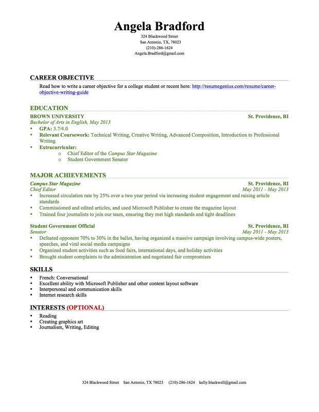 resume for college student with no experience  u2013 task list